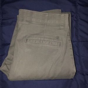 Haggar grey slim fit khakis